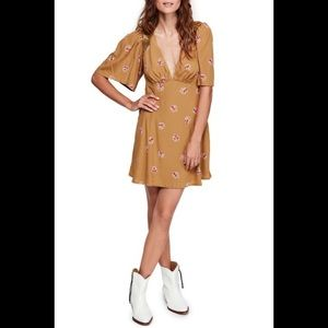 Free People NWT Mockingbird Floral Mini Dress